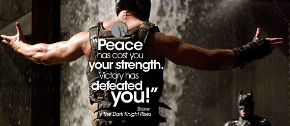 Bane Has Some Of The Best Bad Guy Quotes Ever Quotes Pinterest
