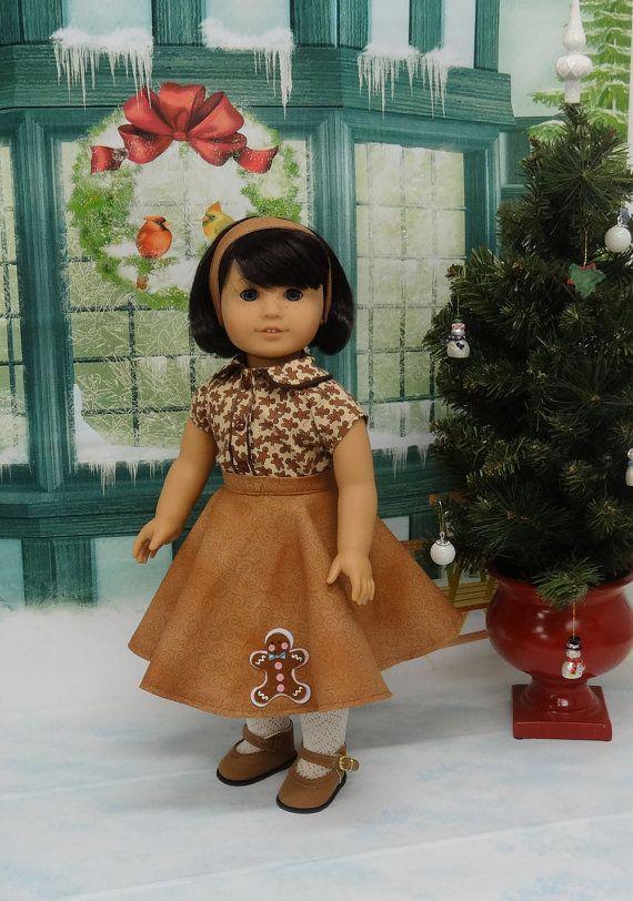 Gingerbread Cutie circle skirt ensemble for by cupcakecutiepie
