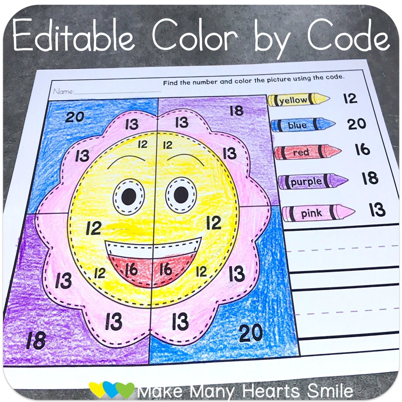 Smiley Faces Editable Worksheets And Centers Mmhs43