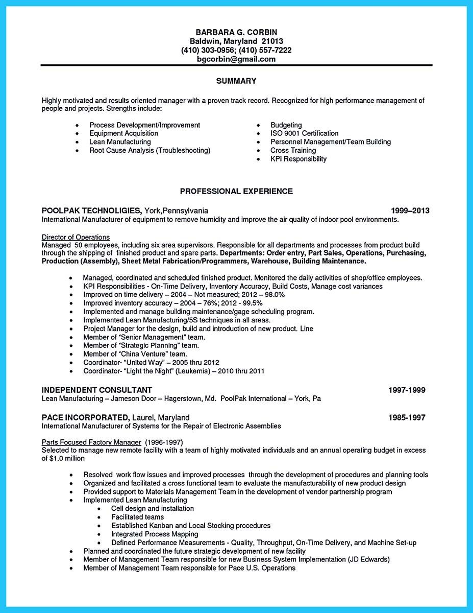 Professional Assembly Line Worker Resume Make You Stand Out How