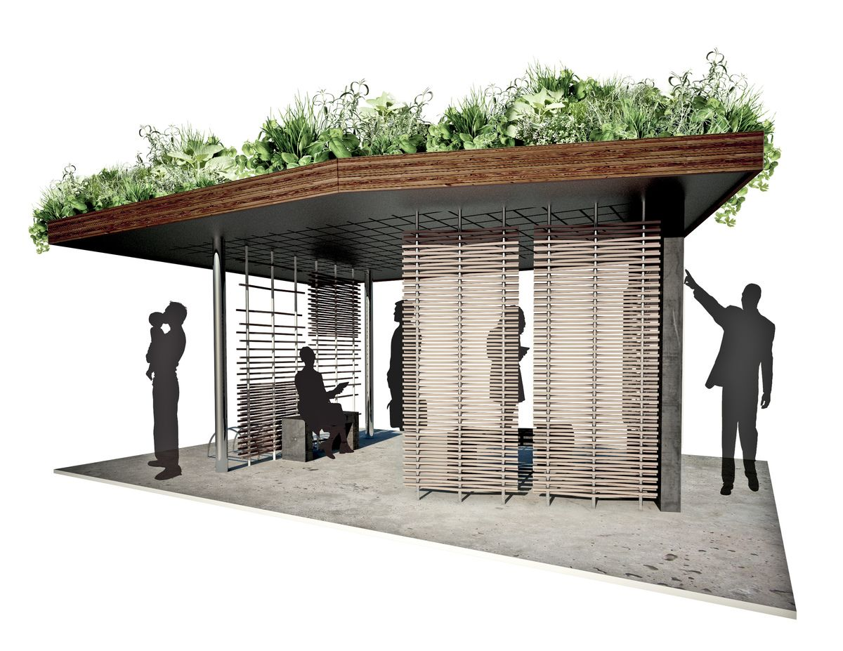 Bus Stop Shelter Plans : Bus shelter design google search smokin hub project