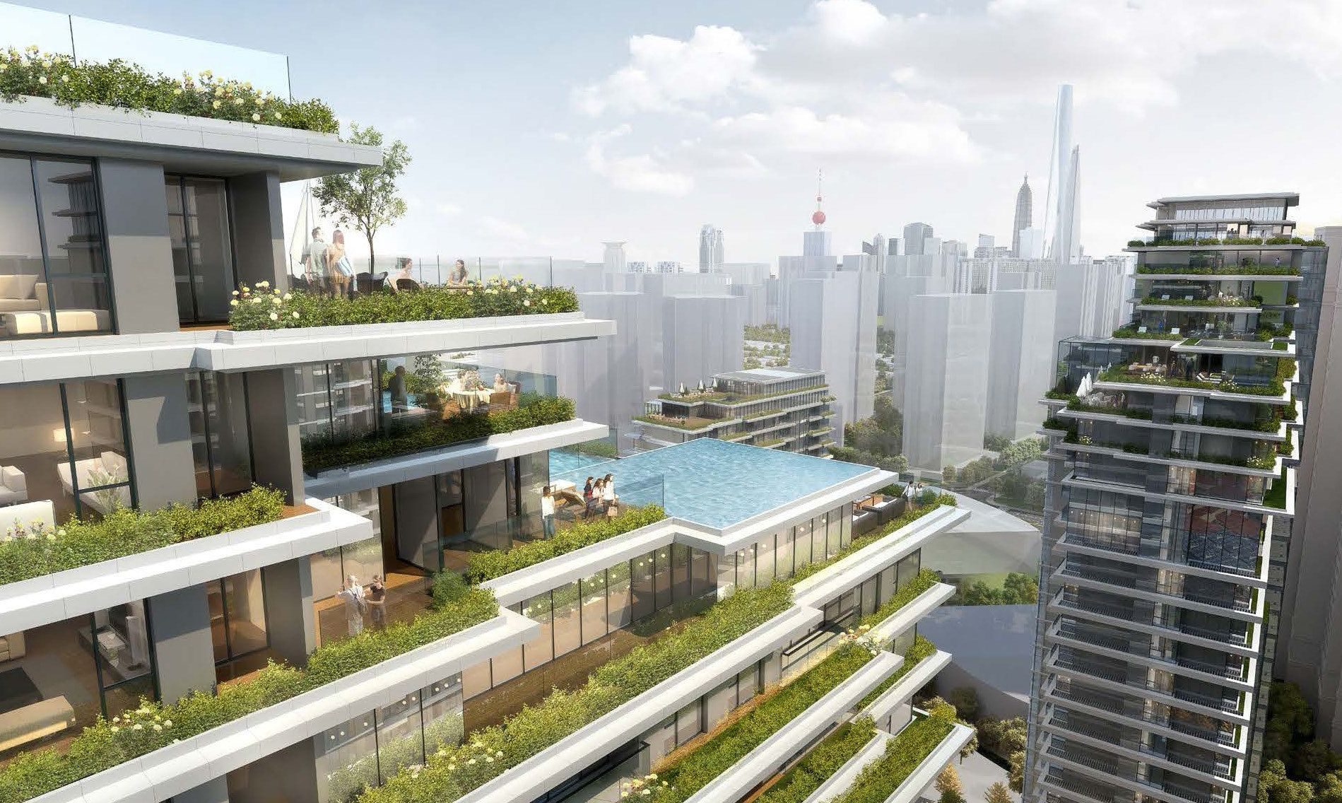 CITIC Pacific High-Rise Development in Shanghai Beautifully Combines Natural With The Artificial  | ArchDaily