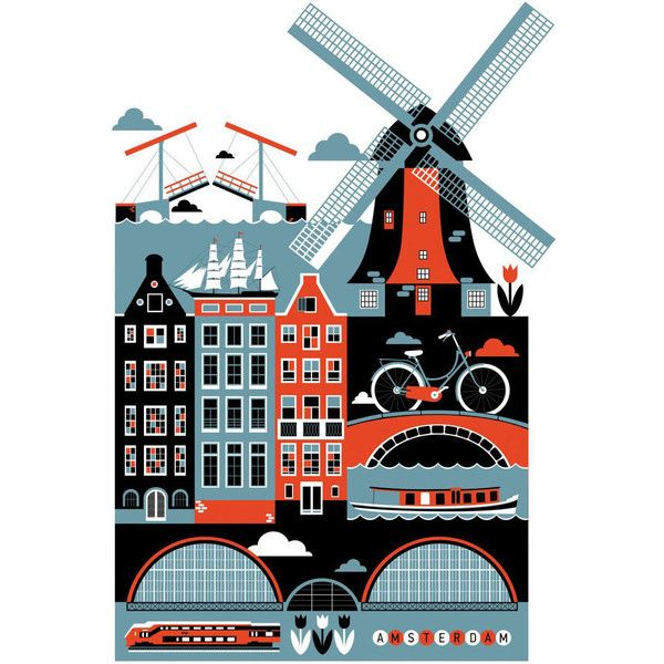 Monde Mosaic - Amsterdam Art Print (3.975 RUB) ? liked on Polyvore featuring home  sc 1 st  Pinterest & Monde Mosaic - Amsterdam Art Print (3.975 RUB) ? liked on Polyvore ...