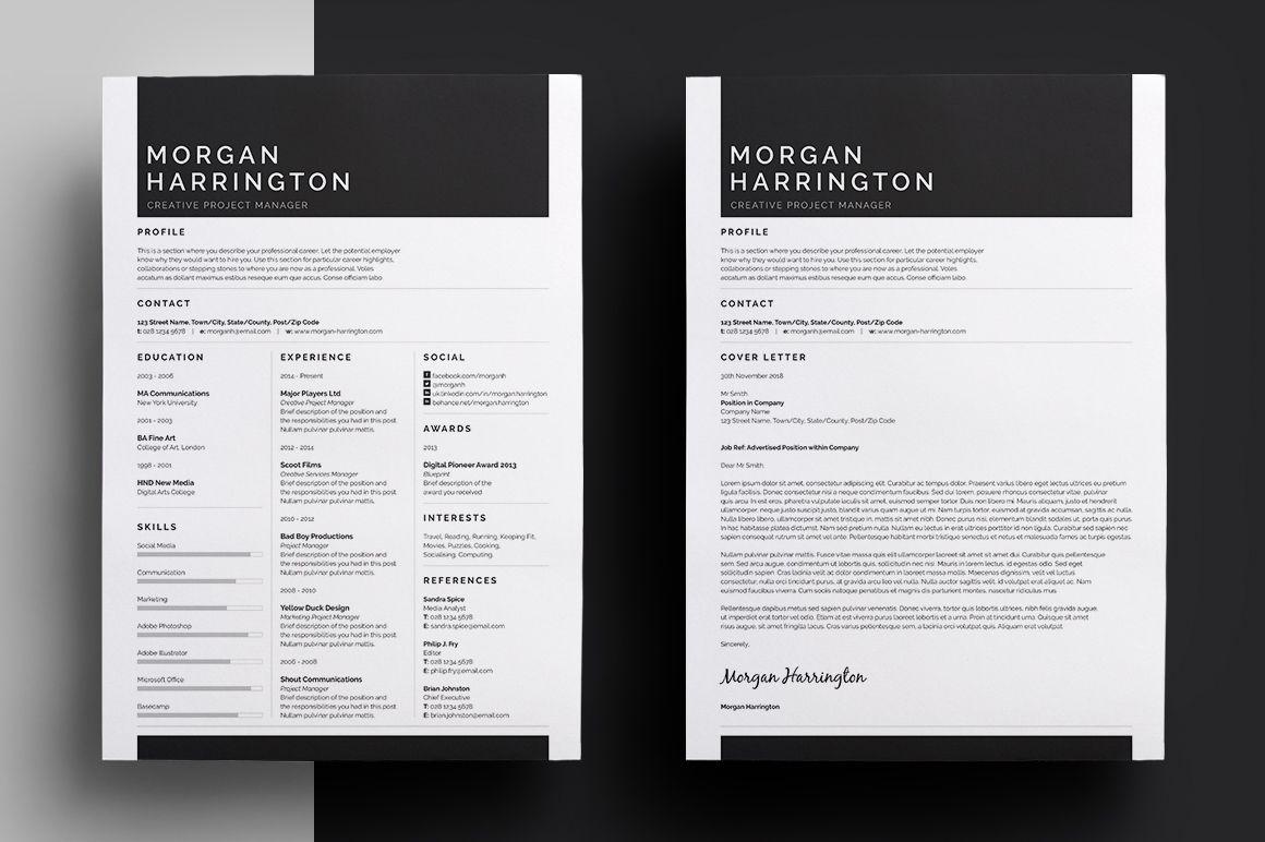 Resume/CV - Morgan by bilmaw creative on Creative Market | Варто ...