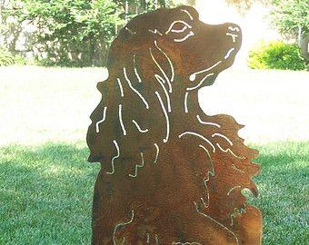 Uinque Cocker Spaniel Metal art garden sculpture dog lovers gift / memorial stake