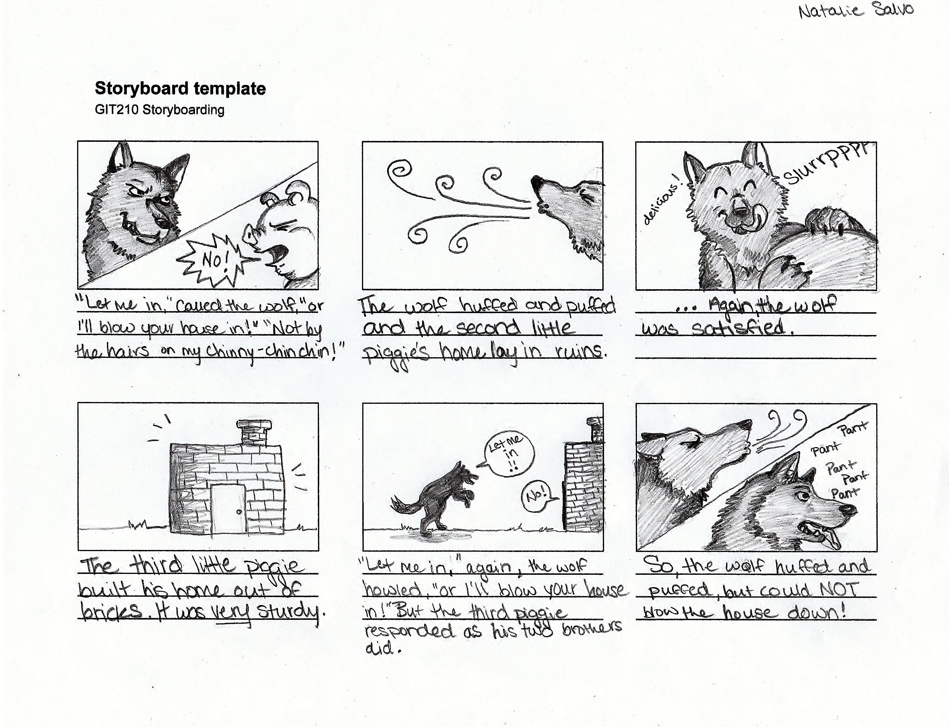 3 Little Pigs Story Board