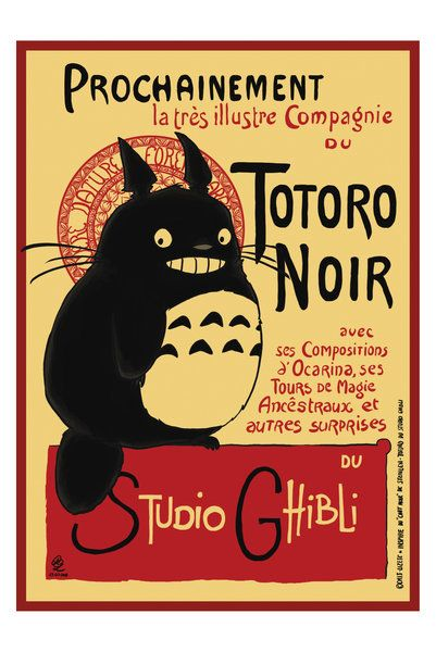 totoro + chat noir