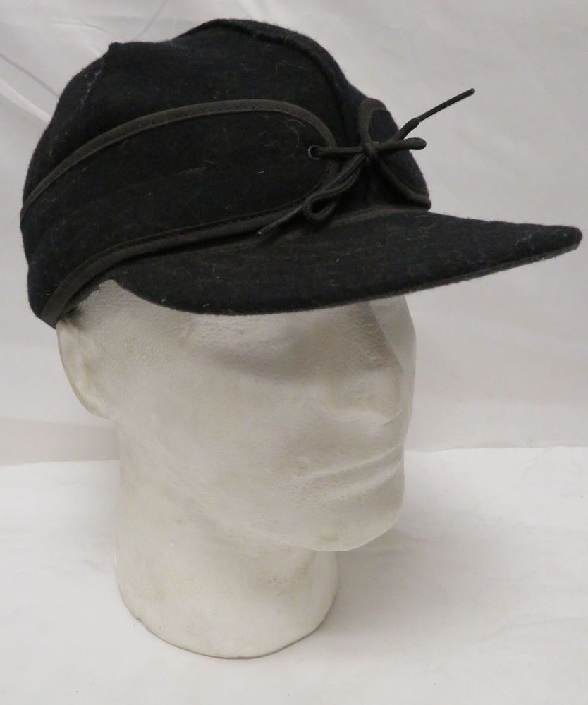 82d6964ae3432 Stormy Kromer Mercantile Size 7 5 8 Wool Blend Black Winter Hat Cap ...