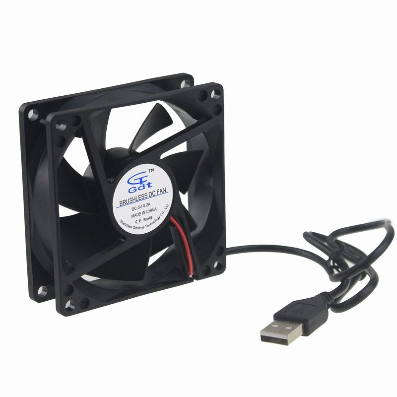 17 Off 2pcs Gdstime Power Supply Usb Pc Fan 80mm 5v Hydraulic