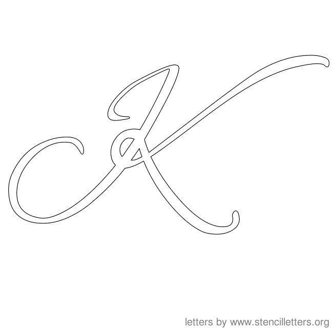 Cursive Letter Stencils K Letter Templates Letter Stencils