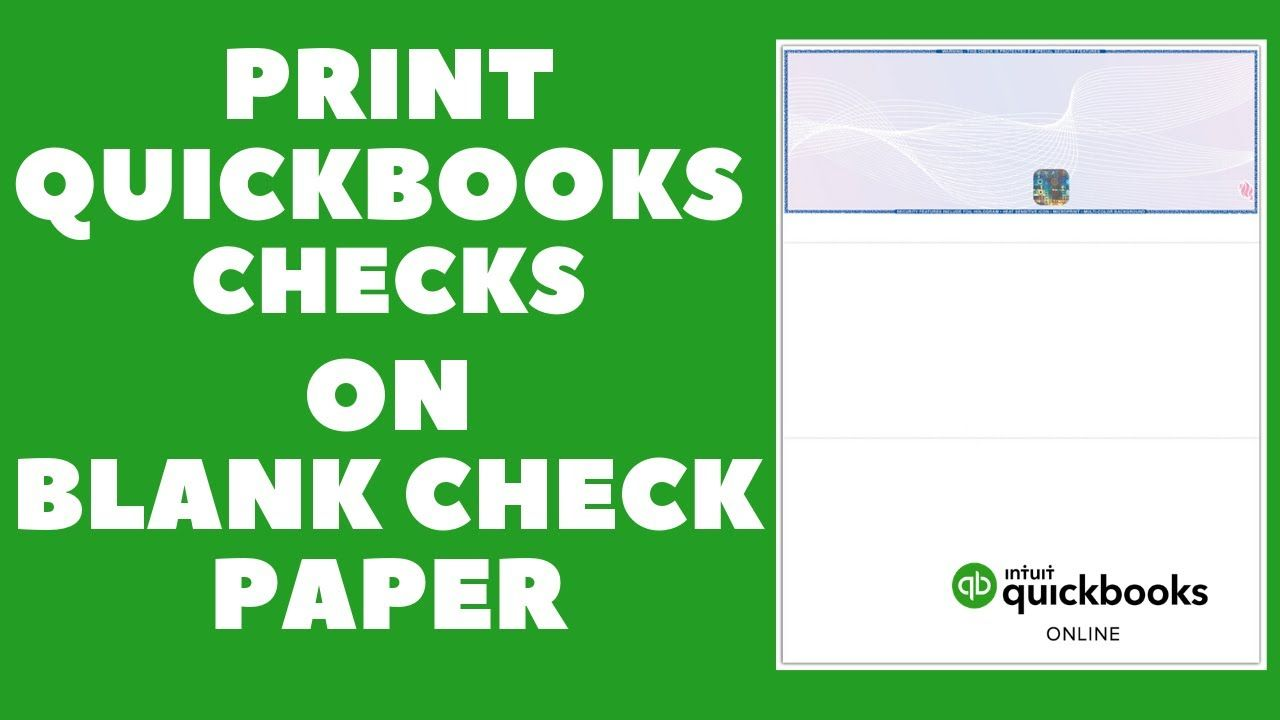 Quickbooks Checks Integration With Online Check Writer From Multiple Bank Accounts To Blank Checks Youtube In 2020 Online Checks Quickbooks Online Printing Software