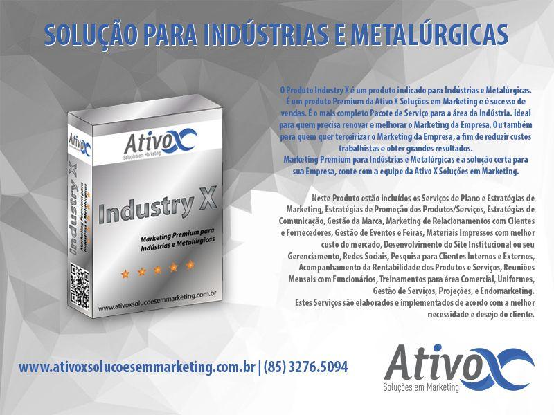 Boa Tarde Pessoal! Sabia que nós temos uma linha exclusiva de Produtos para Indústrias e Metalúrgicas? Então Conheça um deles: INDUSTRY X– Marketing Premium para Indústrias e Metalúrgicas!   #AtivoxSoluçõesEmMarketing #MarketingParaIndútrias  http://bit.ly/2hnnyfI
