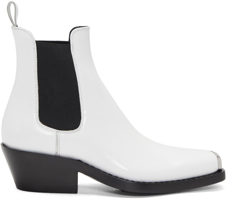 7cfcb18287b Calvin Klein 205W39NYC White Western Claire Boots | Shoes | Boots ...