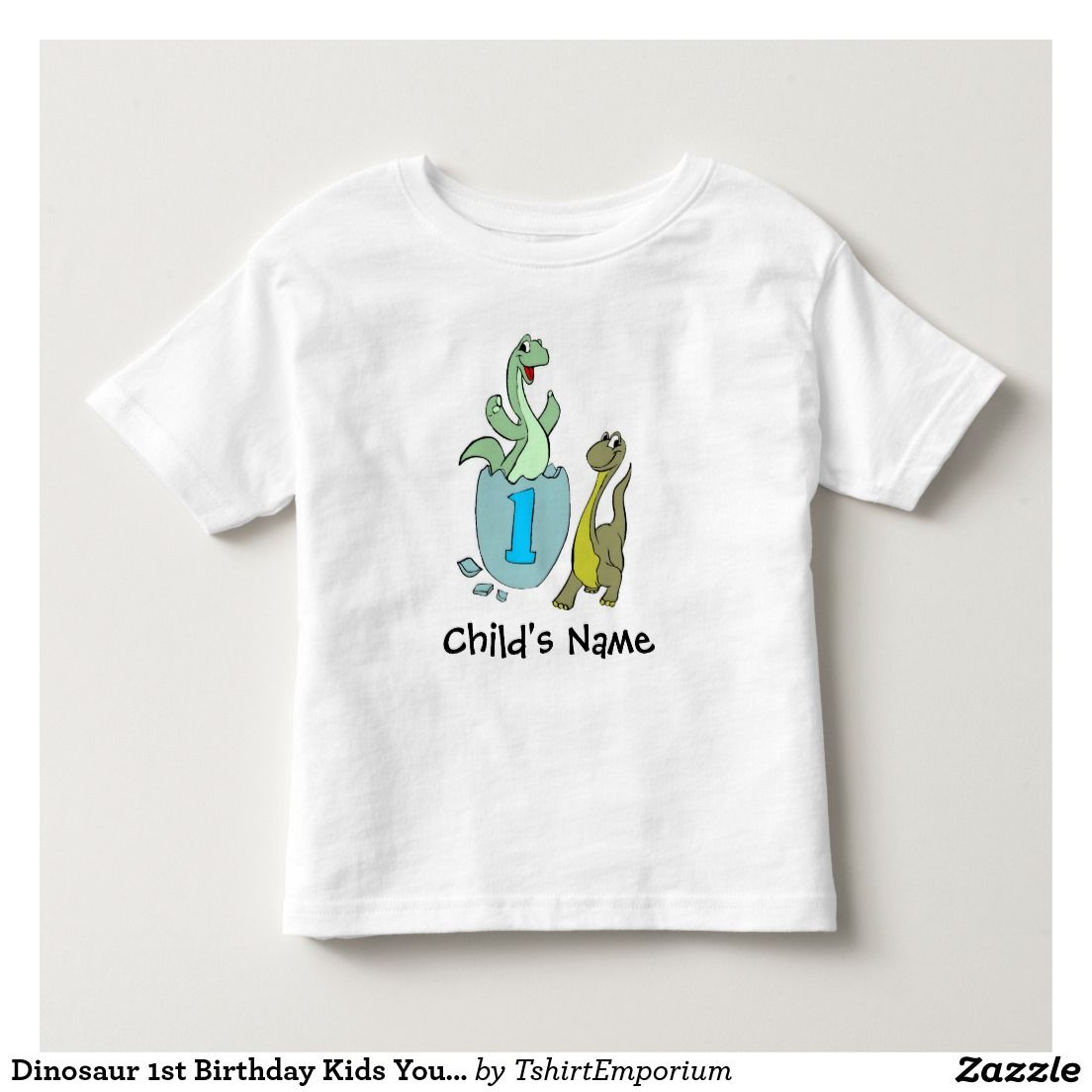 Dinosaur 1st Birthday Kids Youth Toddler Tshirt