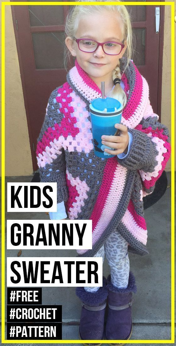 crochet GRANNY SQUARE SWEATER free pattern :  Crochet Kids Granny Square Sweater free pattern – best crochet Sweater pattern for beginners curated by shareapattern.com  #Crochet #Free #Granny #Pattern #Square #Sweater #grannysquareponcho crochet GRANNY SQUARE SWEATER free pattern :  Crochet Kids Granny Square Sweater free pattern – best crochet Sweater pattern for beginners curated by shareapattern.com  #Crochet #Free #Granny #Pattern #Square #Sweater #grannysquareponcho