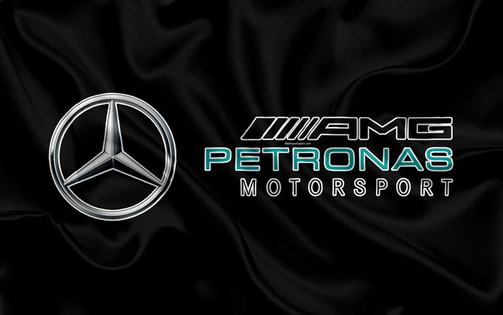 Download Wallpapers Mercedes Amg Petronas Motorsport 4k F1 Silk Flag Racing Team Formula 1 Mercedes Racing Besthqwallpapers Com Mercedes Amg Mercedes Petronas Mercedes