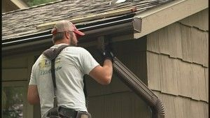 Here S The Story Behind A Twin Cities Roofing Gutter Project Our Team Completed After A Hail Storm Roofing Gutter Roofer