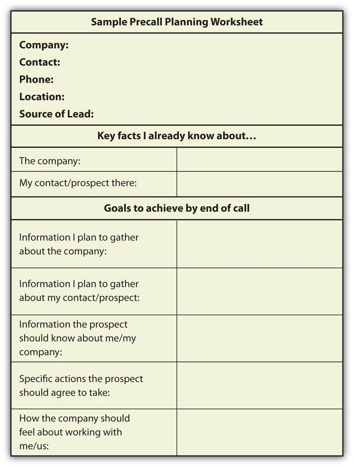 Strategic Planning Worksheet | Researching Your Prospect: Going ...
