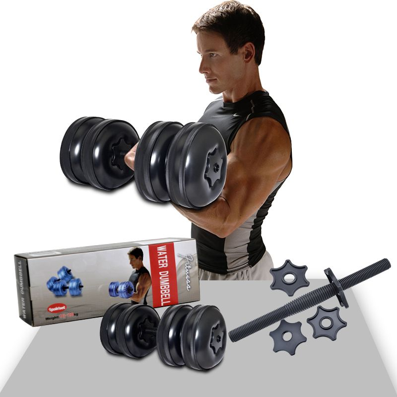 High Quality Heavy Weight Upto 55lb 25kg Adjustable Water Filled Dumbbells For Fitness Man Women Dumbbell Set No Equipment Workout Dumbbell