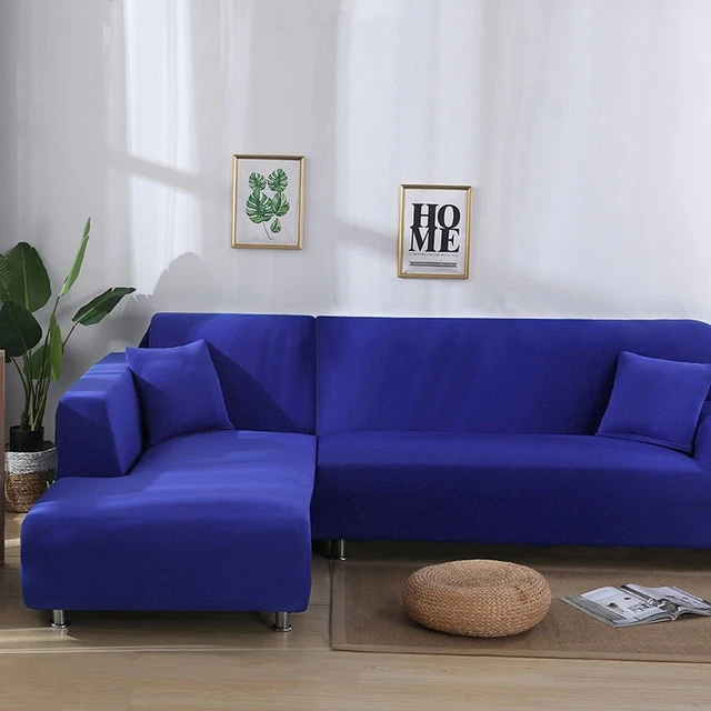 Plain Royal Blue Couch Cover Blue Sectional Sofa Cover Corner Sofa Covers Corner Sectional Sofa Sofa Covers