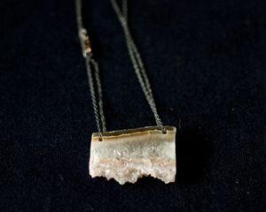 Mossiére amethyst slice necklace $65