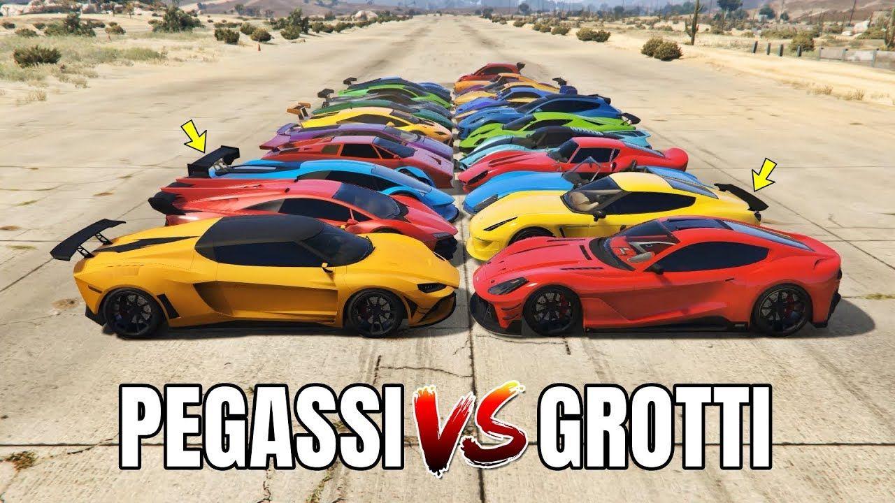 Gta 5 Online Pegassi Vs Grotti Which Is Fastest Gta 5 Online Fastest Lamborghini Gta 5