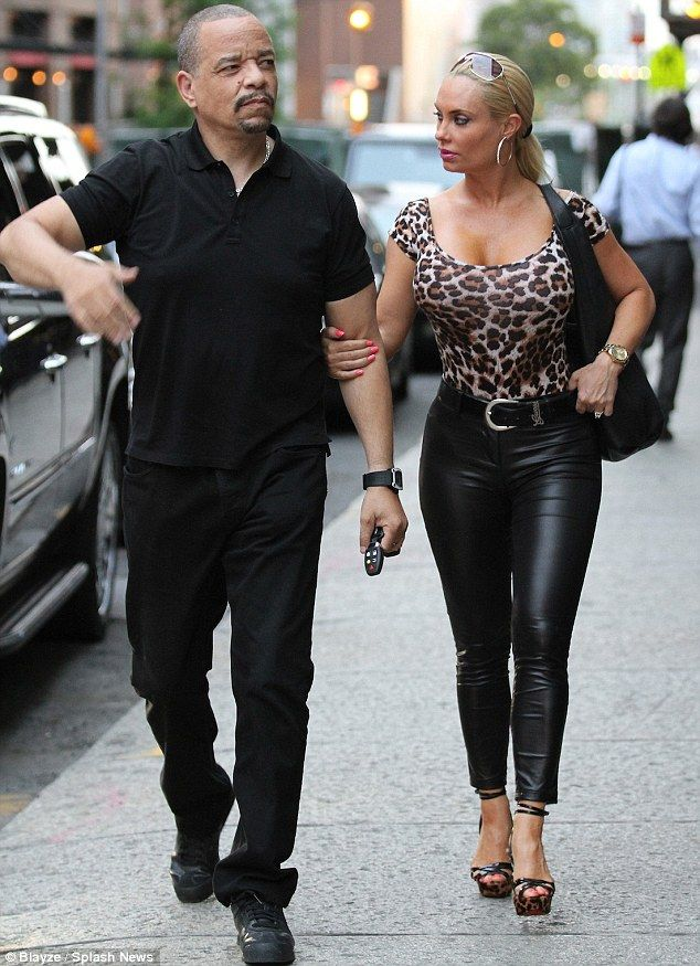 Ice Peeved Rapper T Looks Displeased Despite Wife Coco Flaunting Her Figure In Tight Top And Leather Trousers On Dinner Date Cute Celebrity Couples Ice T And Coco Hollywood Couples