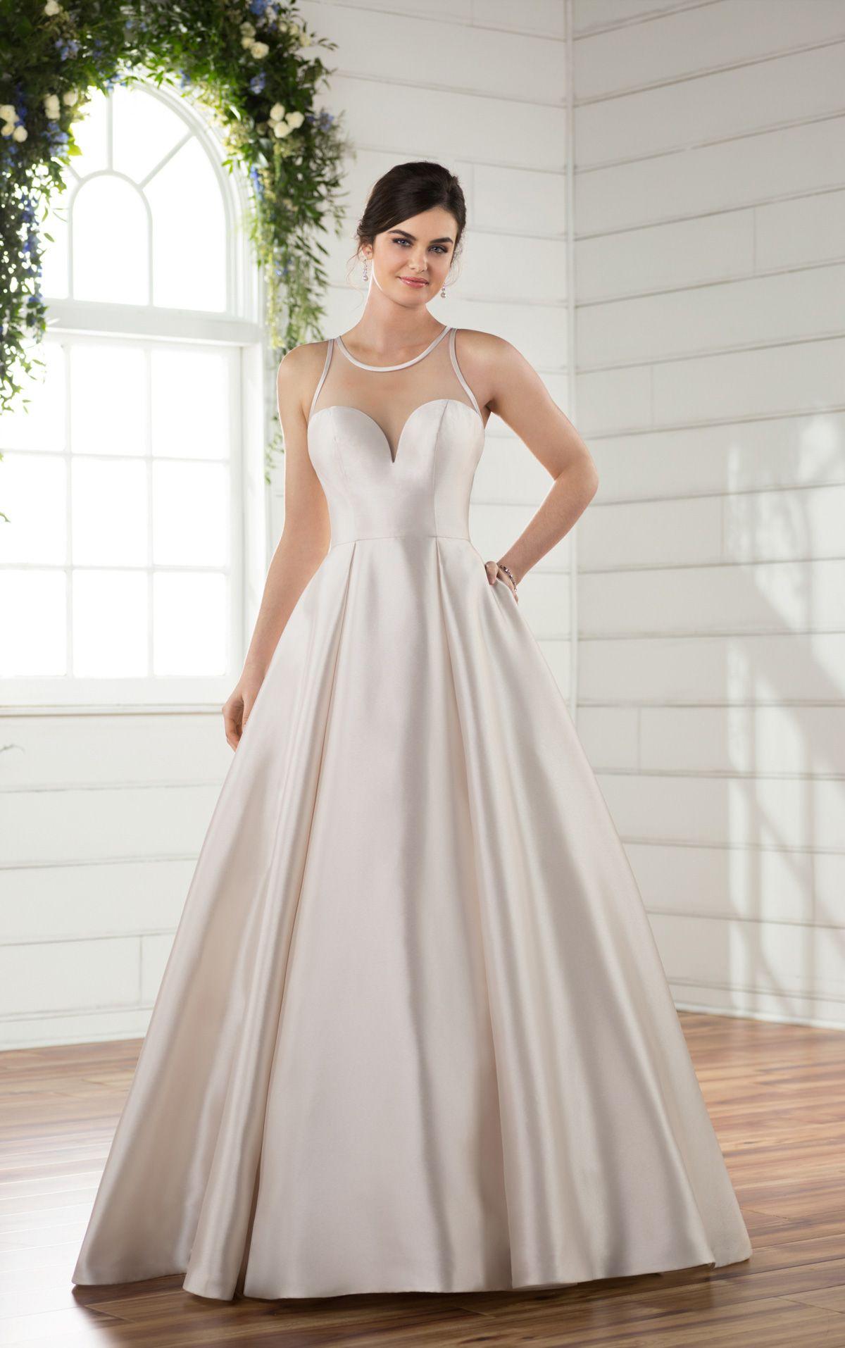 Wedding dresses ballgown wedding dress illusion neckline and