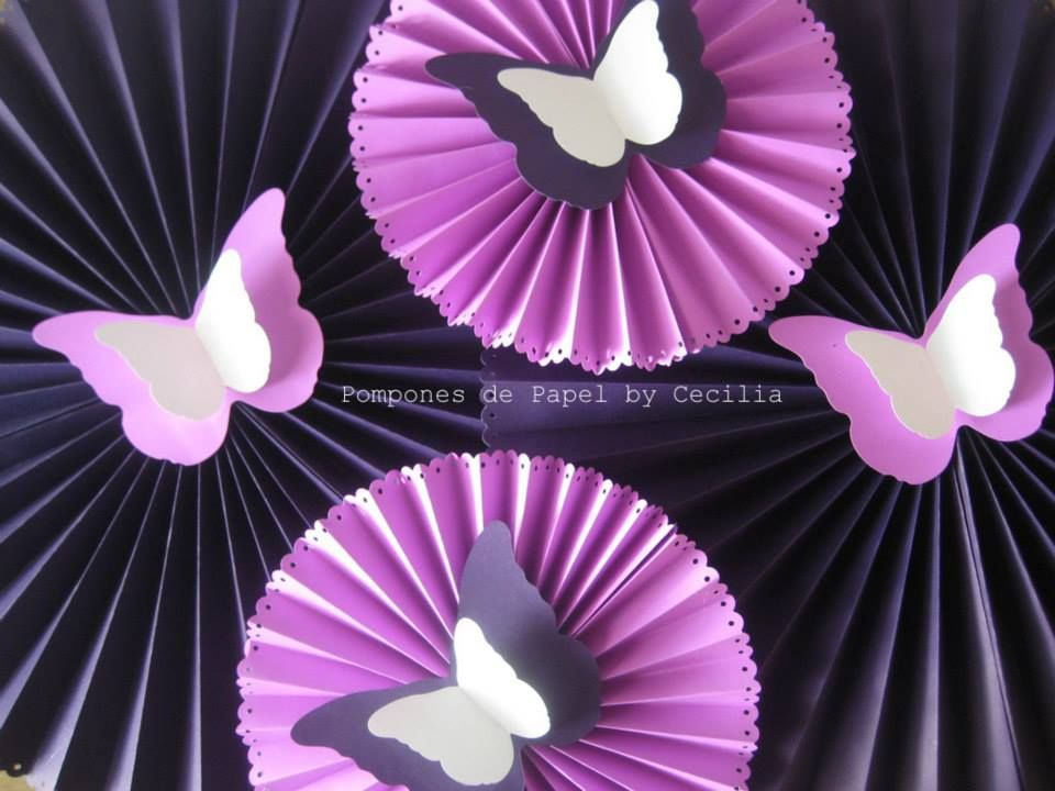 Decoracion de cumplea os con rosetas de papel buscar con for Papel de decoracion