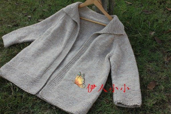 新手可织简约(无扣毛线大衣)手工编织作品秀_会手工编织毛衣的人都在编织汇