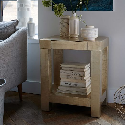 Parsons End Table White Lacquer Perry Street Pinterest - West elm parsons end table
