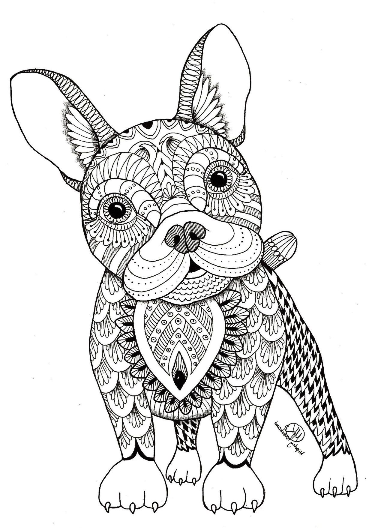 25 inspiration image of animal mandala coloring pages