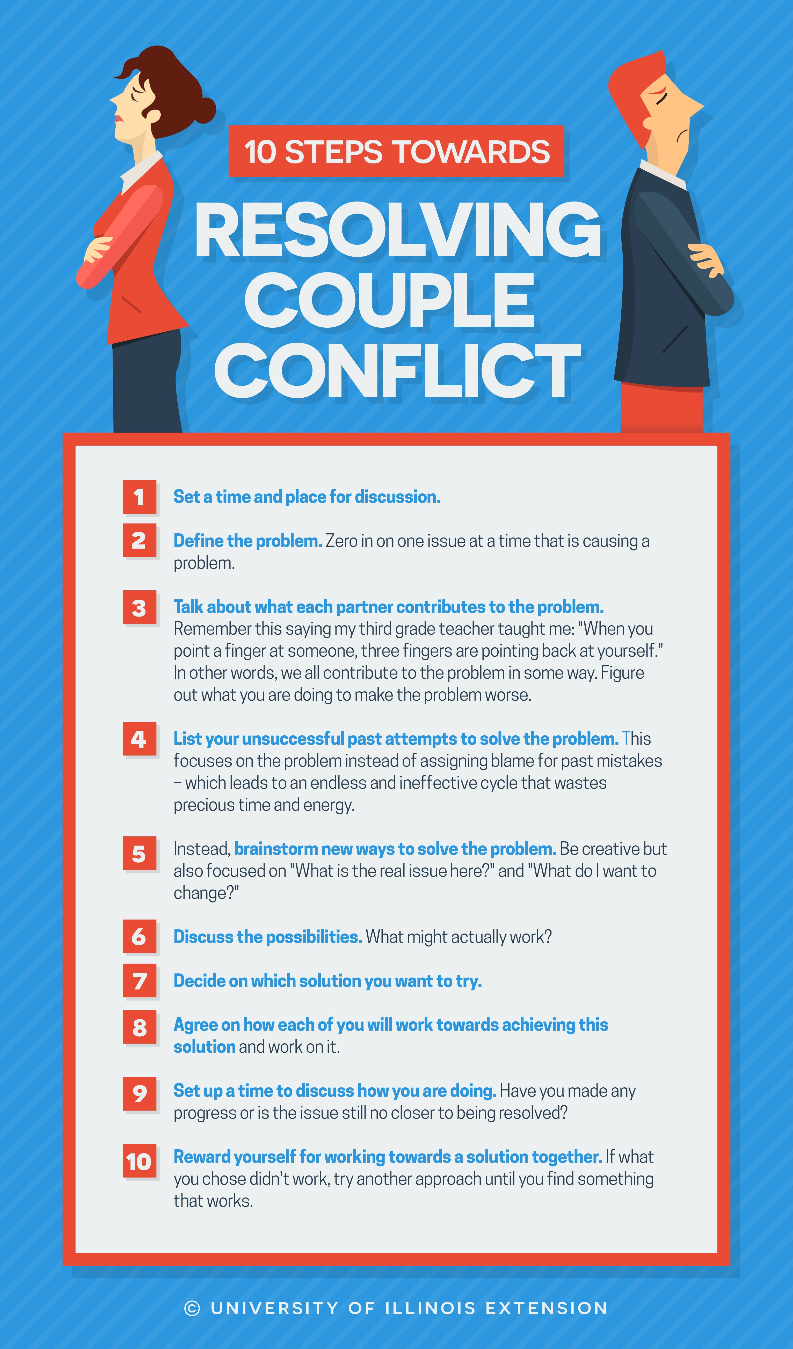 10 Steps Towards Resolving Couple Conflict Tips