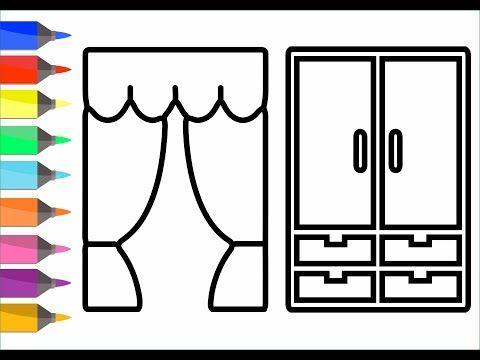 Coloring 8 Home Appliance Painting for toddlers and