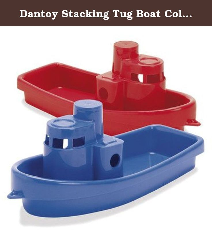 """Dantoy Stacking Tug Boat Color: Blue. Finally a really big boat for the tub! Children will love this oversized 12"""" boat made of strong durable plastic to withstand rugged play. High play value, safety for children and product durability are just a few key aspects that reflect the quality of Dantoy products."""