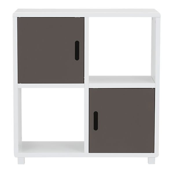 4-section grey storage unit from Crate & Barrel