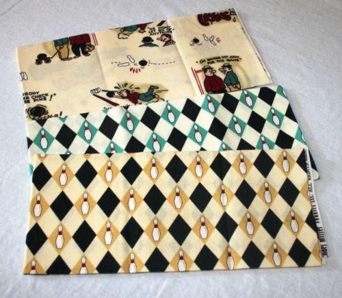 Michael Miller Ten Pin Bowlers Retired Fat Quarters Retro Quilt ... : ebay quilting fabric - Adamdwight.com