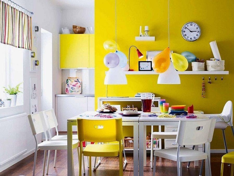 Excepcional Ideas De Cocina Paredes Amarillas Viñeta - Ideas de ...