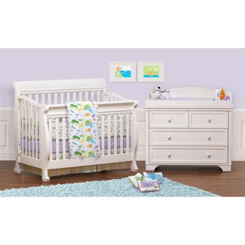Costco Devon White 2 Piece Convertible Crib Set Convertible