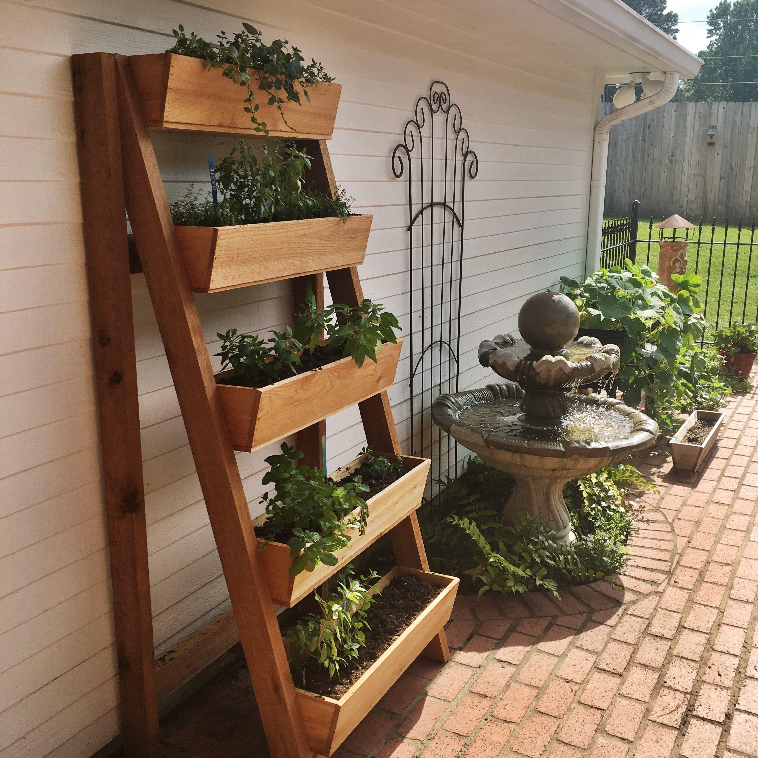 Cedar Vertical Herb Garden In Ideas