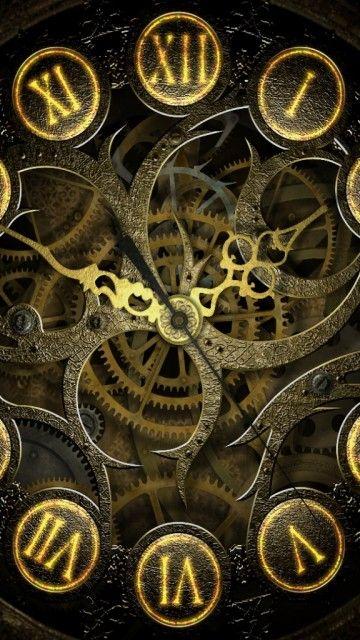 Clock Mechanism Steampunk Lockscreen Android Wallpaper Steampunk Iphone Wallpaper Steampunk Wallpaper Clock Wallpaper Iphone lock screen clock wallpaper it
