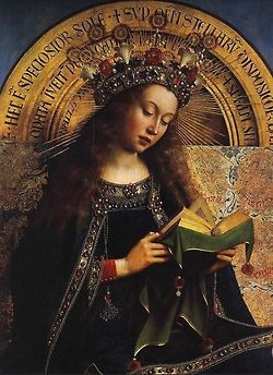 Van Eyck, The Ghent Altarpiece, early 15thC - detail.