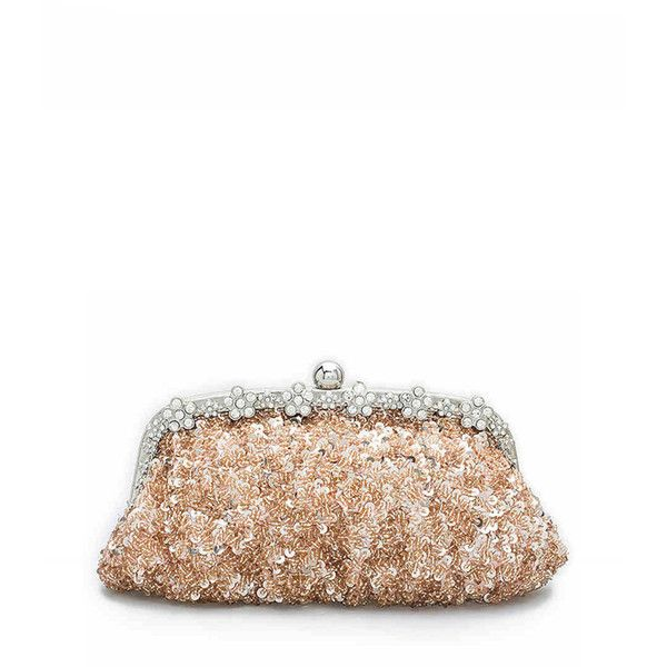 2d849d61af9 Pink Sequin Design Beaded Clutch Bag ( 61) ❤ liked on Polyvore featuring  bags