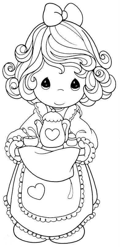 precious moments coloring pages cow - photo#9