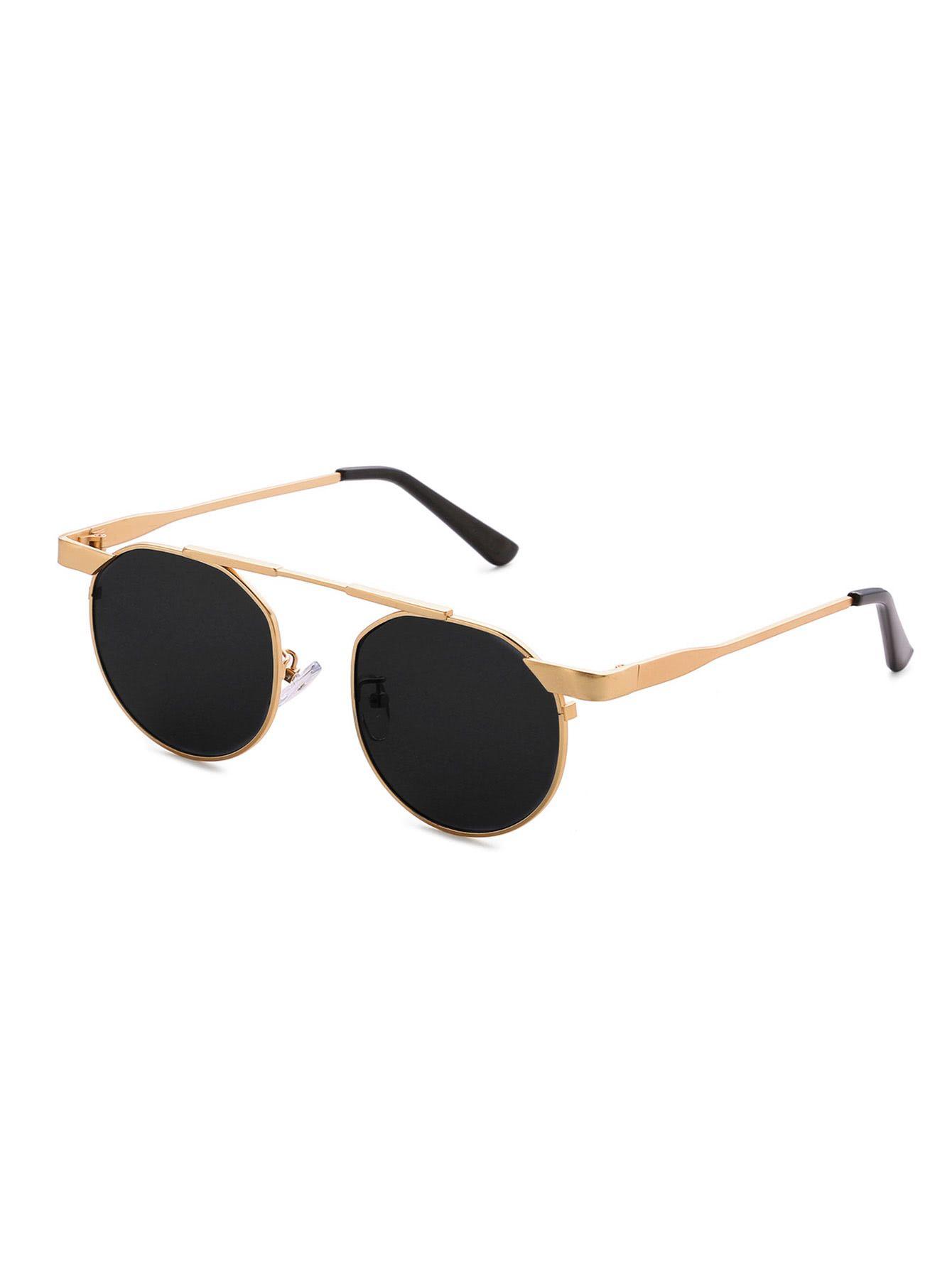 Top Bar Round Sunglasses