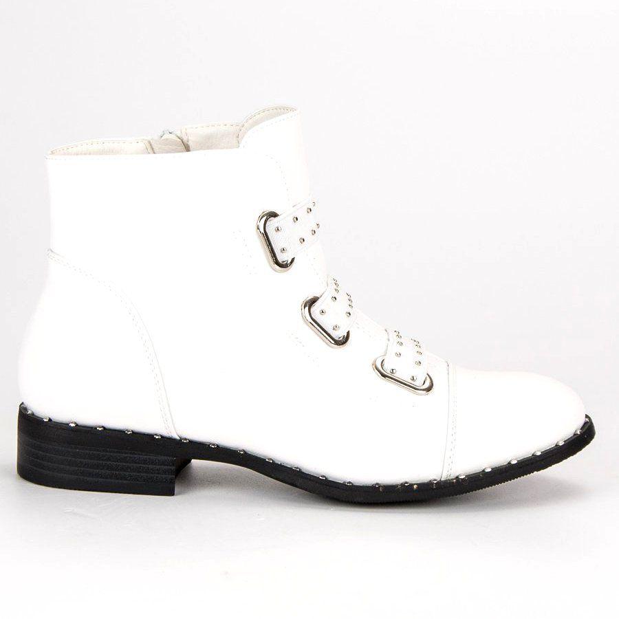 Bestelle Biale Botki Na Suwak High Top Sneakers Shoes Sneakers