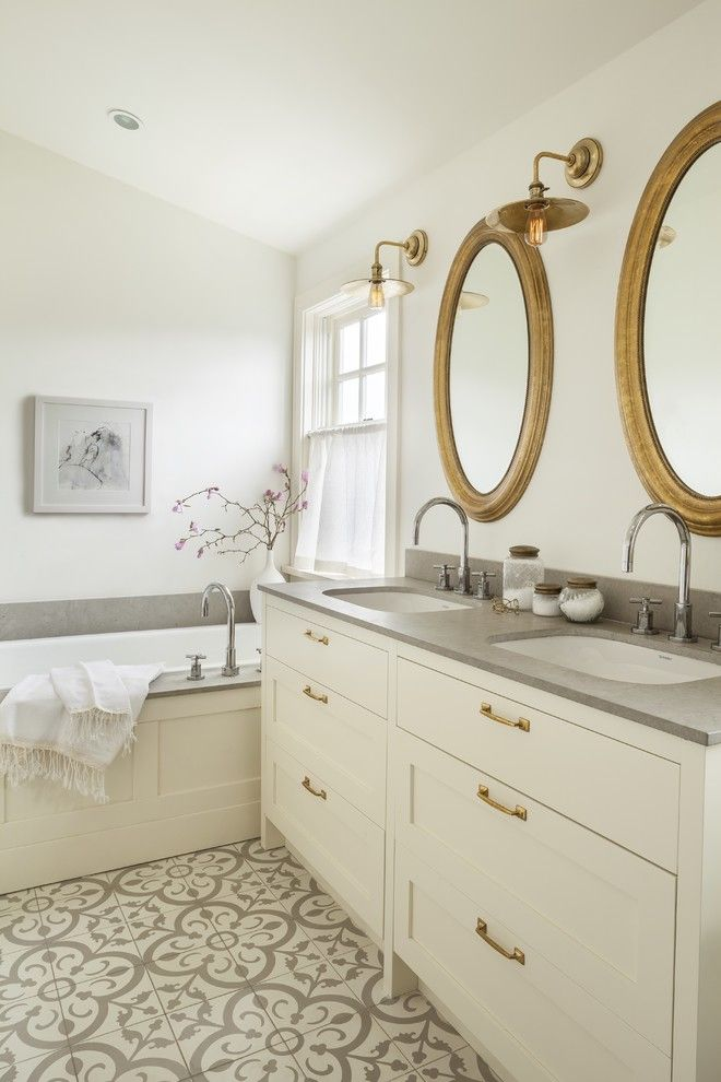 Beguiling Shaker Cabinets White Image Decor in Bathroom ...