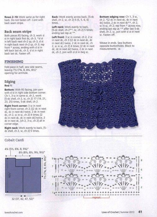 Crochetemoda | Crochet Bolero 8 | Pinterest | Häkelmuster, Stricken ...