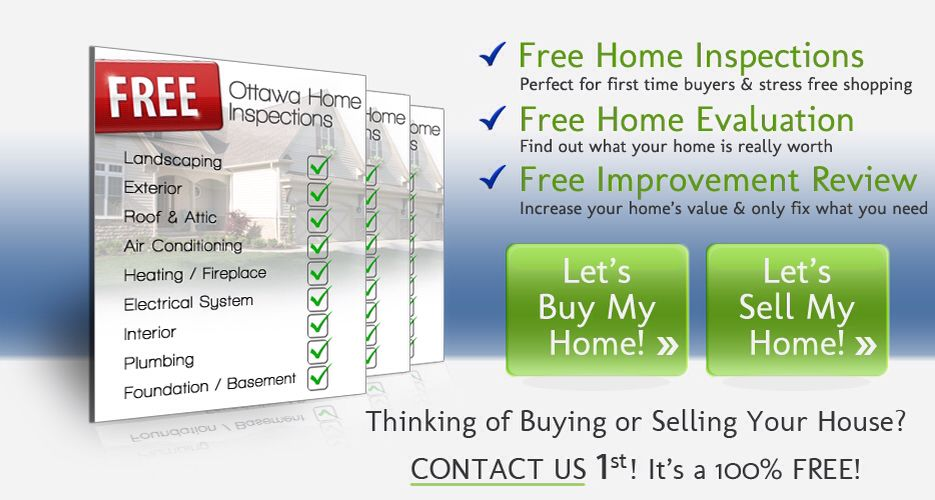 100% Free Ottawa Home Inspections. Perfect for first time home buyers.