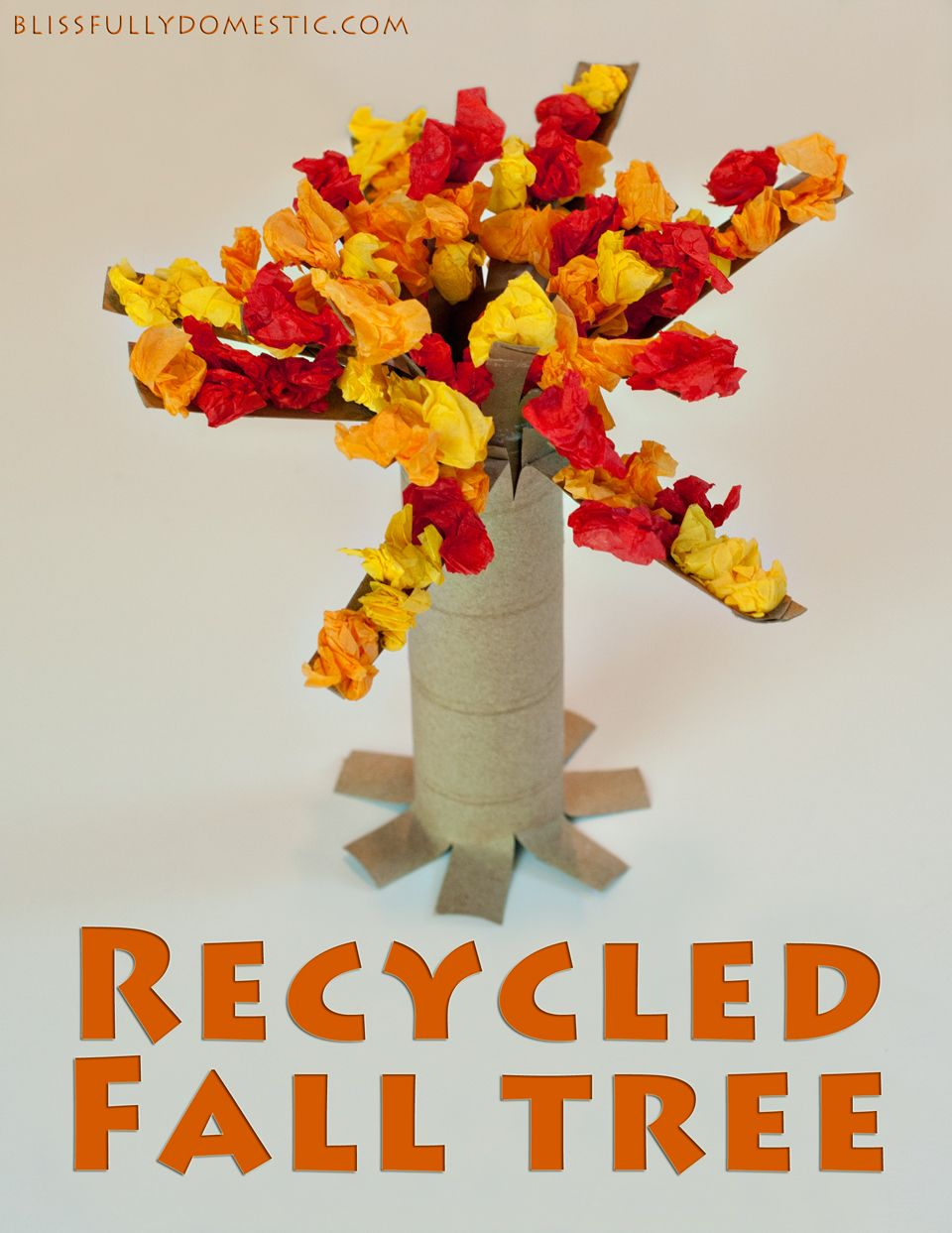 how to make a tree from recycled materials